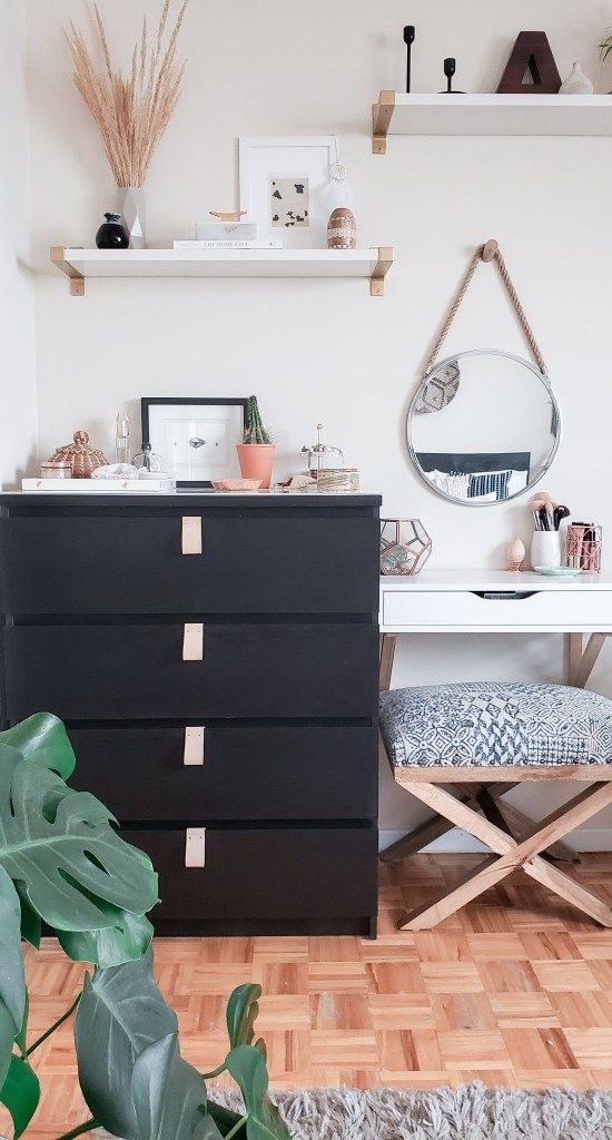 Ikea Malm Hacks Dark Leather Handles